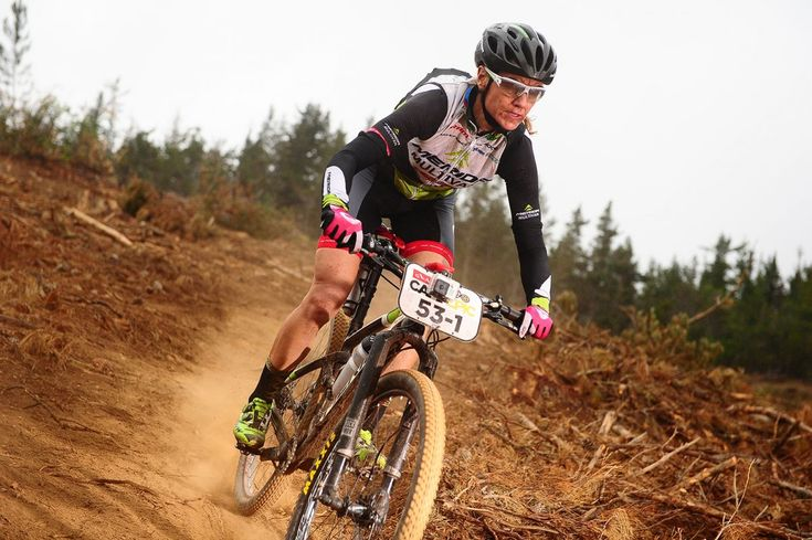 Gunn-Rita Dahle Flesja of World Bicycle Relief during the 2015 Absa Cape Epic