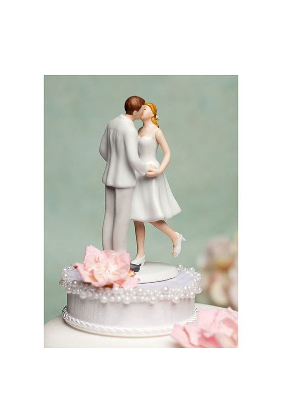 she'll do it custom too, love the leg pop!: Accent Cakes, Single Roses, The Kiss, Swarovski Crystals, Pearls Accent, Adorable Leggings, Bride Dresses, Leggings Pop, Weddings Cakes Toppers
