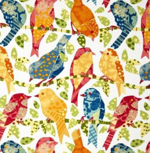 Details about RICHLOOM ASH HILL MULTI NAVY BLUE ABSTRACT BIRDS OUTDOOR FABRIC BY YARD 54″W