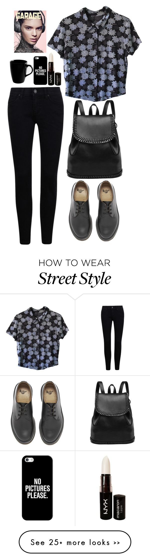 """""""#141"""" by katyadirectioner on Polyvore featuring Dr. Martens, 10 Strawberry Street, NYX and Casetify"""
