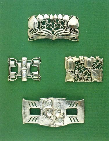 Vintage Buckles by Archibald Knox