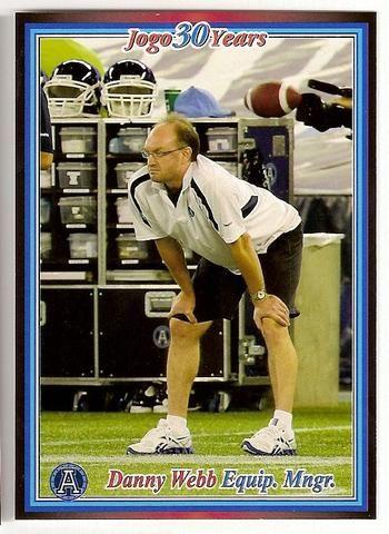 Danny Webb CFL card 2010 Jogo #63 Toronto Argonauts  Sheridan College