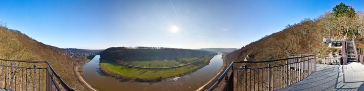 "360 degrees panorama from the Weser-Skywalk on the Hannoverschen Klippen near Bad Karlshafen in Weserbergland, GermanyCopyright@www.photo-panorama-stamm.com""Der Stamm kann 360 Grad / Stamm does 360 degrees"""