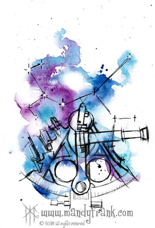 #watercolor #artwork #nautictools #mandyfrank #hamburg2016