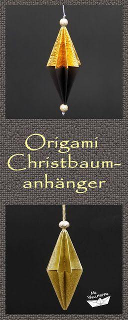 Origami Anhanger Falten Christbaumschmuck Basteln Mit Papier Zu
