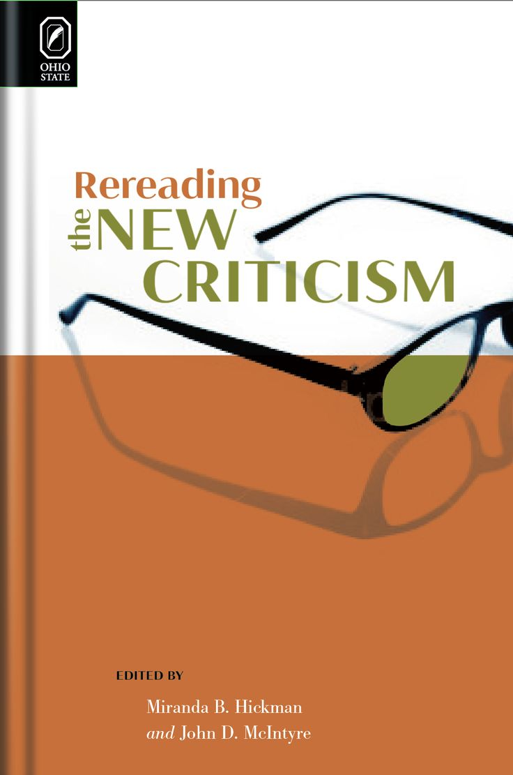 "Alternate/rejected book cover design for ""Rereading the New Criticism"" by Hickman and McIntyre (The Ohio State University Press). Design by Laurence J. Nozik.  #graphicdesign #graphicdesigners #publishing #publishers #authors #bookcovers #bookcoverdesigner"