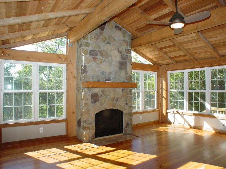 Sunroom Additions Addition Using Post And Beam Construction