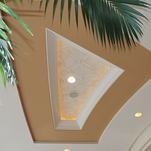 Deco 1 - Circle | Contemporary Ceiling Tile Palm Trees mimicking The ceiling tiles at the MGM Conference Center in Las Vegas NV