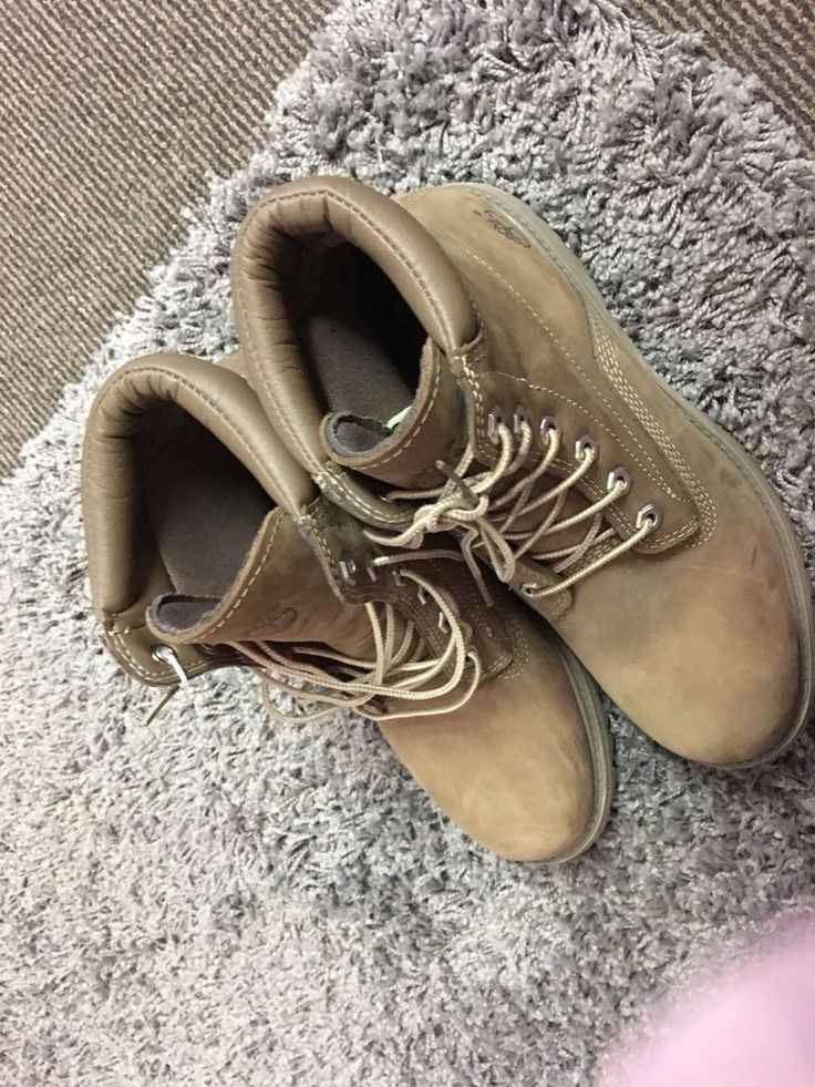 Beige/sand Timberland Boots, Size 7.5  | eBay