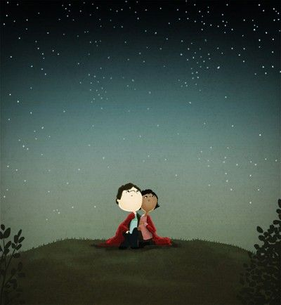 Shoply.com -Under the stars - Illustration Print 13x19. Only $25.00