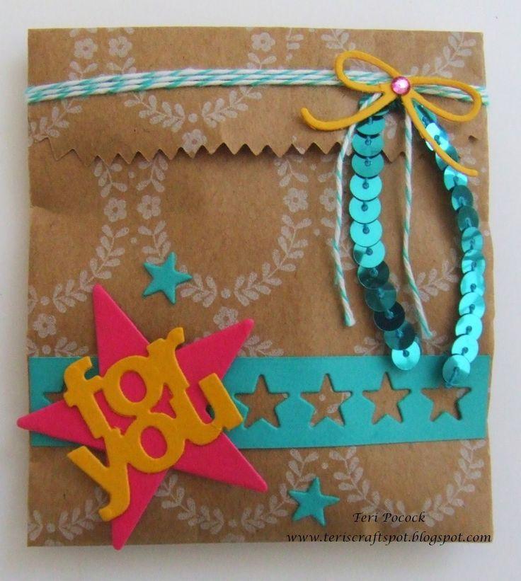 Stampin' Up! - Mini Treat Bag Thinlits Dies!!  Teri Pocock - http://teriscraftspot.blogspot.co.uk/2014/12/mini-treat-bag-thinlits-dies.html