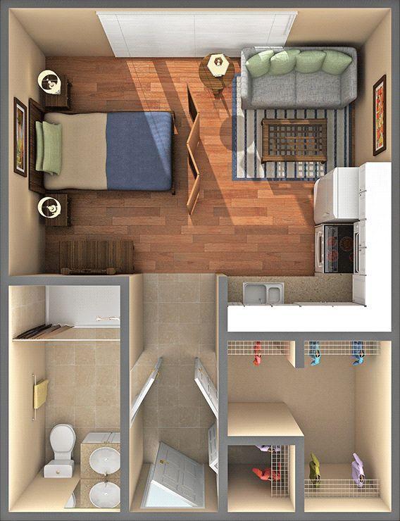 400 square foot studio apartment - Google Search