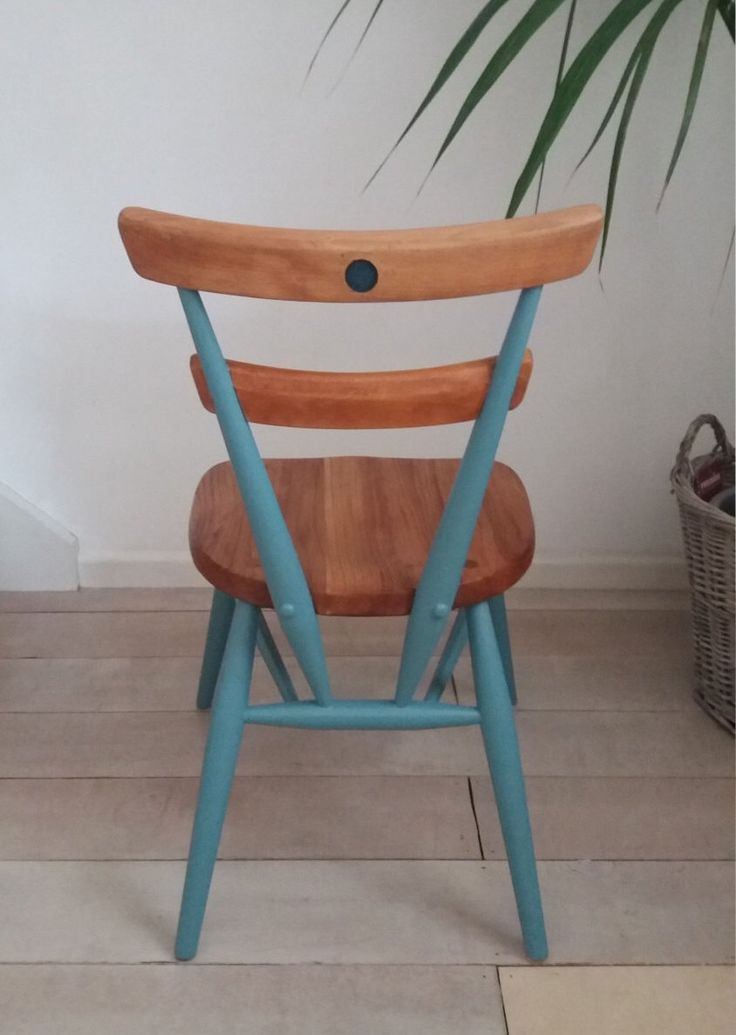 Ercol Childu0027s U0027Blue Dotu0027 Stacking Chair In Farrow U0026 Ball By  TheHappyChairCompany On Etsy