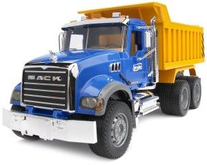 Bruder Mack Granite Dump Truck Fantastic detail, just like the real thing.  Doors open, hood opens and of course it dumps http://bit.ly/1ECAVOd