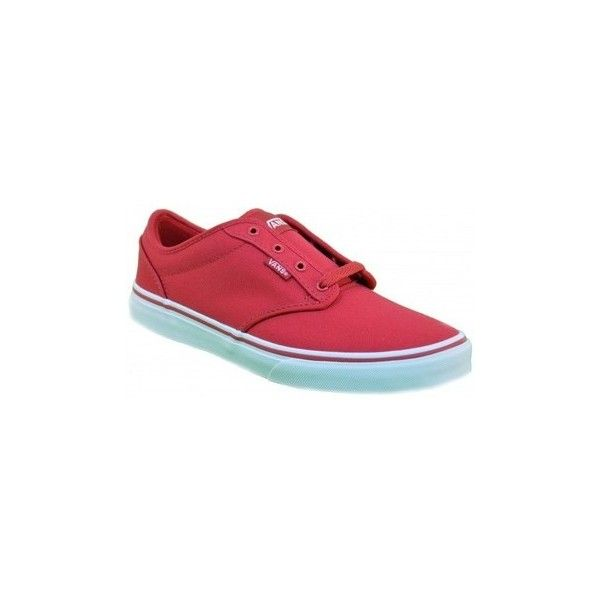 Vans ATWOOD ZNR5GH Shoes (Trainers) (220 BRL) ❤ liked on Polyvore featuring shoes, sneakers, red, trainers, women, vans footwear, red trainers, vans shoes, red sneakers and vans trainers