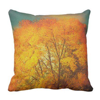 Fall Colors Autumn Orange Trees Outdoor Pillow