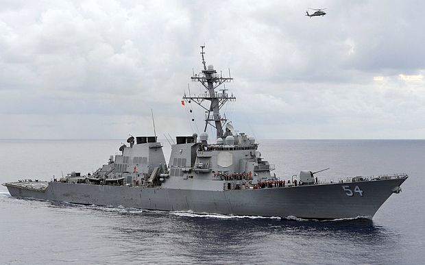 USS Curtis Wilbur Wara-wiri Dekat Pulau Triton Tiongkok: AS Merusak Perdamaian dan Stabilitas Regional : Tiongkok menuduh Amerika Serikat mencari hegemoni maritim atas nama kebebasan bernavigasi pada Senin setelah sebuah kapal penghancur milik Angkatan Laut Amerika Serikat