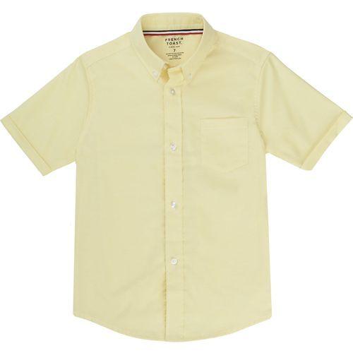 French Toast Boys' Short Sleeve Oxford Shirt (Yellow, Size 14 Husky) - School Uniforms, Boy's Uniform Tops at Academy Sports