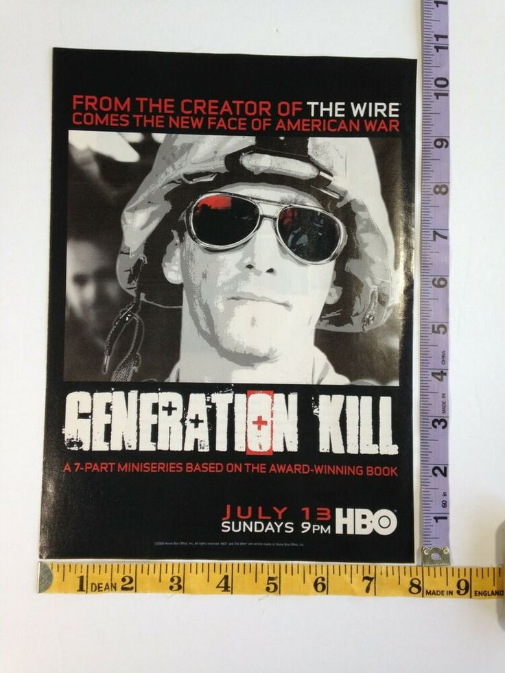 Details about Ad Magazine Clipping Generation Kill HBO