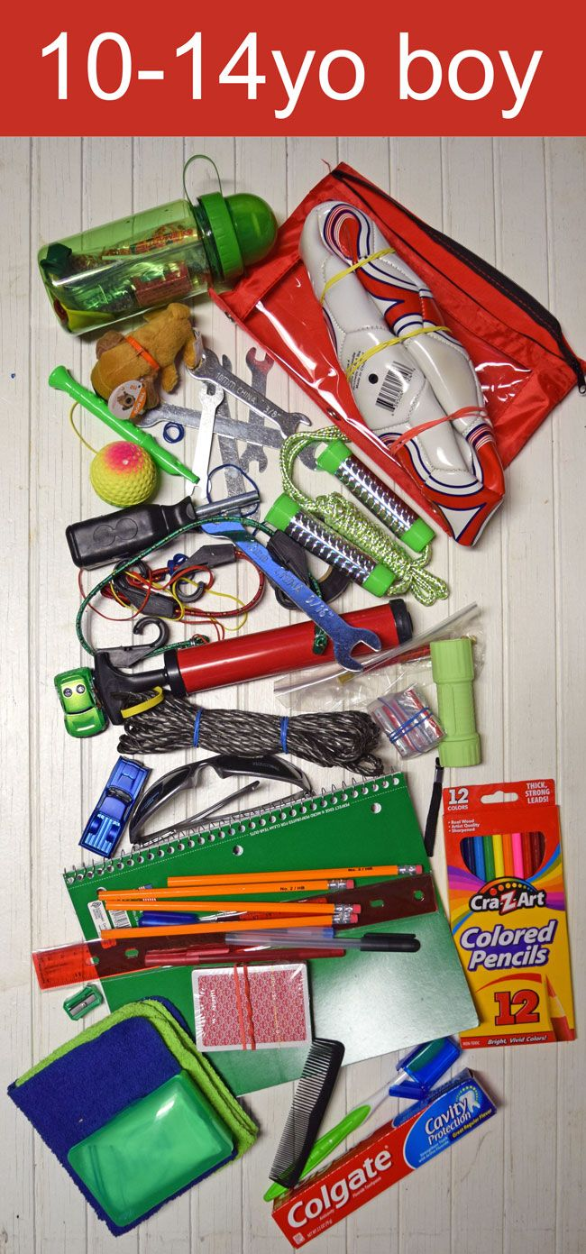 10-14yo boy Operation Christmas Child shoebox ideas