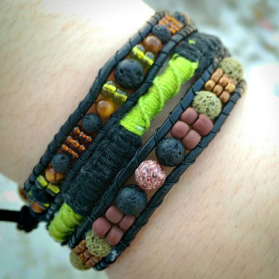 Check out this item in my Etsy shop https://www.etsy.com/ca/listing/273135446/real-leather-triple-wrap-bracelet-with