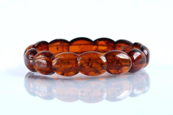 Genuine Cognac Amber Bracelet 100% Natural Baltic Amber