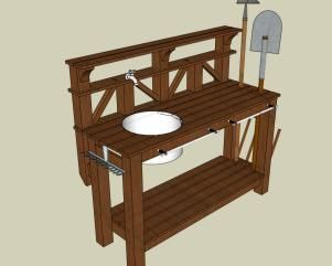 How To Make A Gardeneru0027s Potting Bench. Garden Work ...