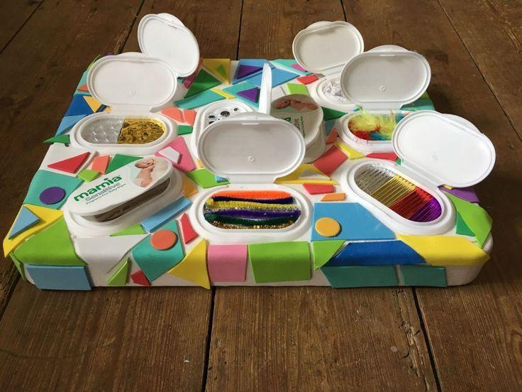 montessori sensory panel with moistened tissue box 07 #box # of #lenco #M …
