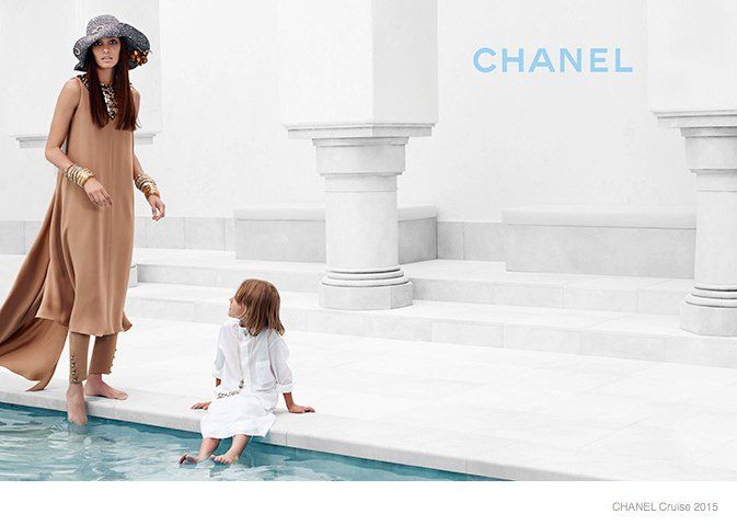 Joan Smalls Lounges for Chanel Cruise 2015 Campaign by Karl Lagerfeld