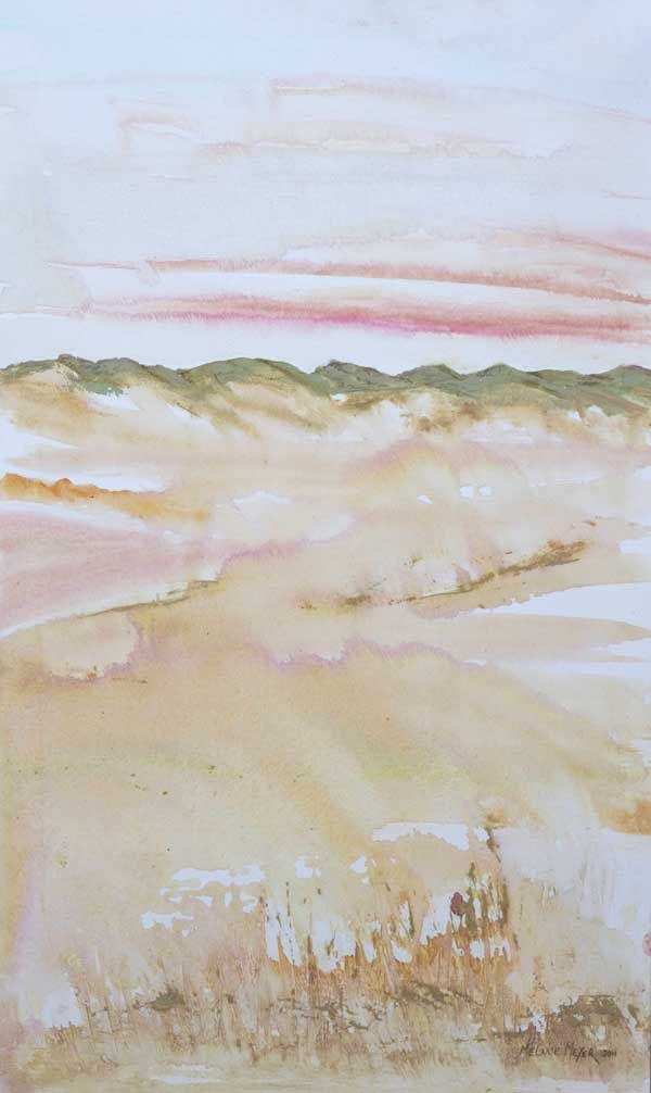 """""""Arniston Dune Sunset"""" by Melanie Meyer from her Emergence Art Gallery in Cape Town"""