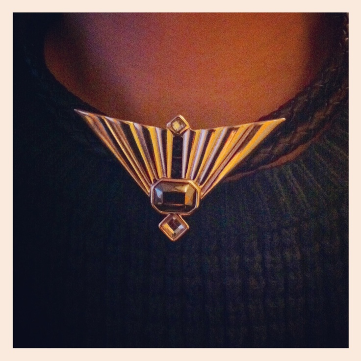 My twisted leather Topshop necklace