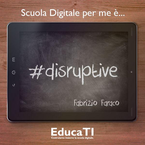 Cosa è per te la #scuola #digitale? Lo abbiamo chiesto a Fabrizio Faraco.