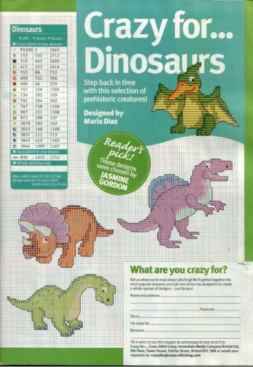 Cross Stitch Crazy 181 (October 2013) - Crazy for...Dinosaurs 2/2