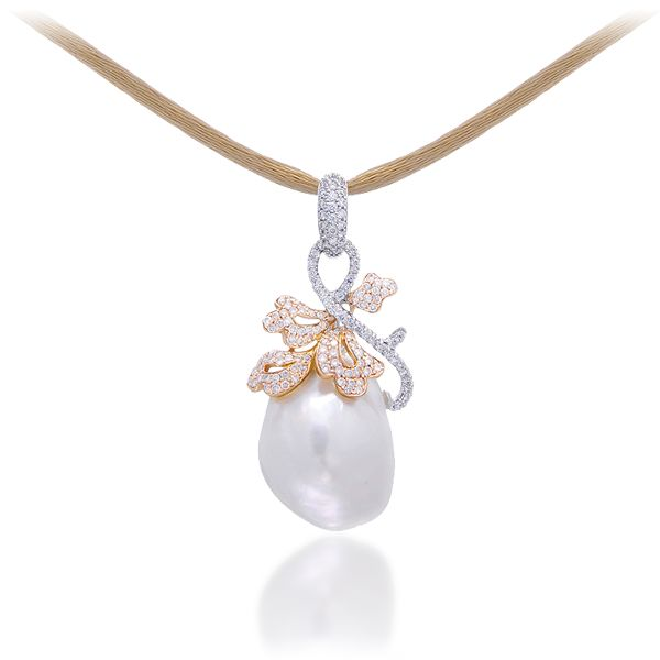 "How's this for your ""something borrowed"": Lugano Diamonds' baroque South Seas pearl necklace; marry at the Montage Laguna Beach and the loaner is free!"