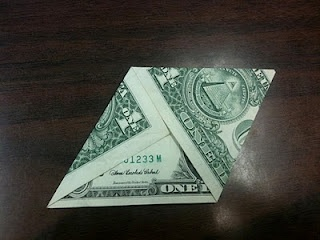 Use a dollar bill (or black and white copies of) to show special right triangles