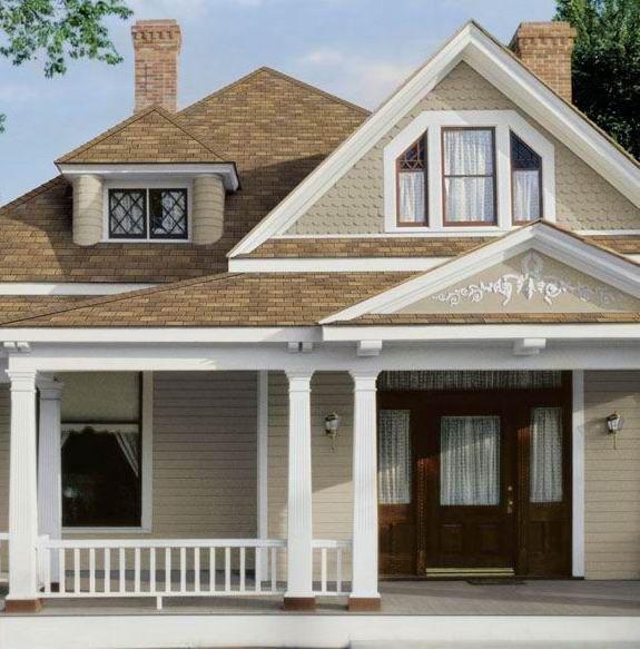 tan house white trim houses exterior pinterest