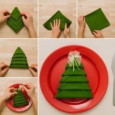 Die besten 25+ Servietten falten weihnachten Ideen auf Pinterest ...