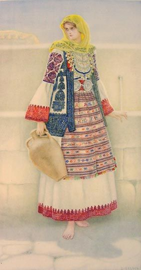 Peasant Woman's Costume,Attica#greece
