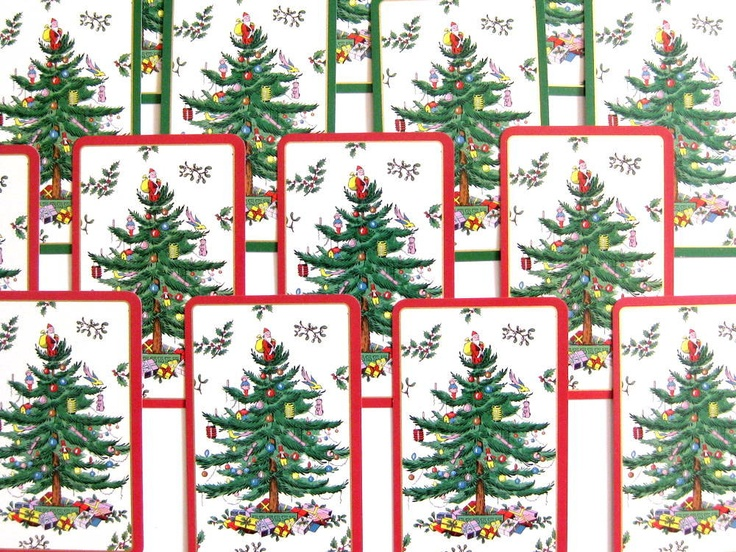 A Forest Of Spode Christmas Tree Cards 16 Tags Embellishment Banners Trees Christmas