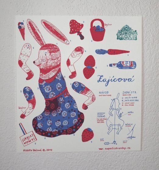 NaPOLI - Pohybliví panáci v prodeji v papelote / www.papelote.cz / paper, toys, illustration