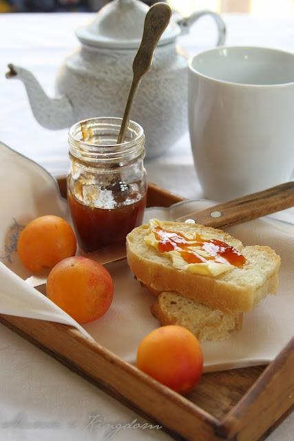 Yellow plums and orange jam