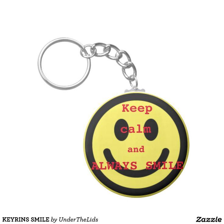 KEYRINS SMILE BASIC ROUND BUTTON KEY RING