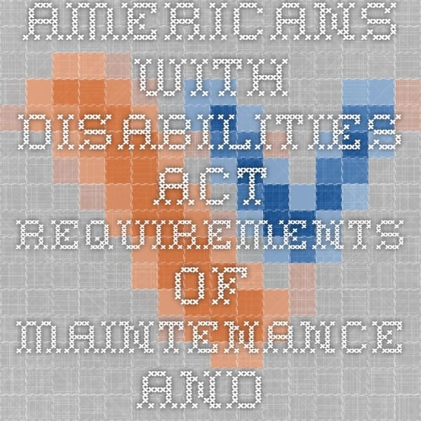 VDOT TE-376.0 - Americans with Disabilities Act Requirements of Maintenance and Operational Projects