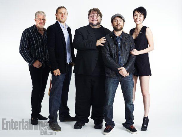 RON PERLMAN, CHARLIE HUNNAM, GUILLERMO DEL TORO, CHARLIE DAY, RINKO KIKUCHI, Pacific Rim at Comic Con 2012