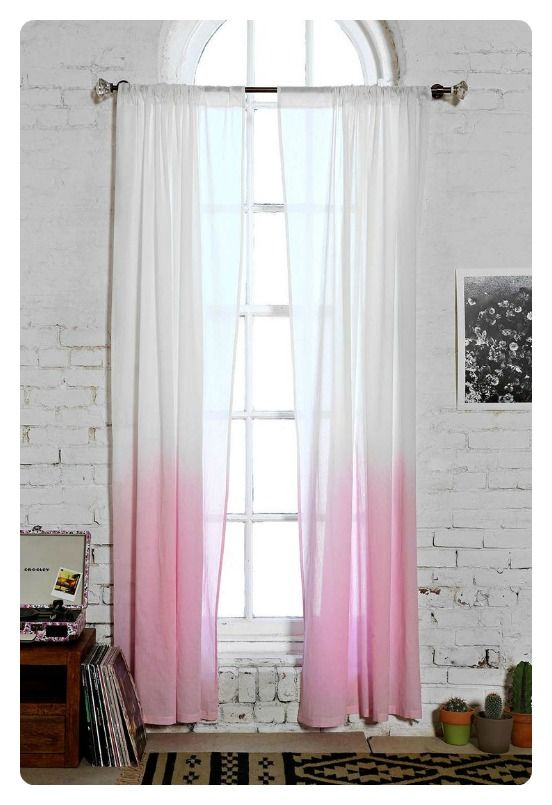 To DIY For Ombre Dyed Curtains