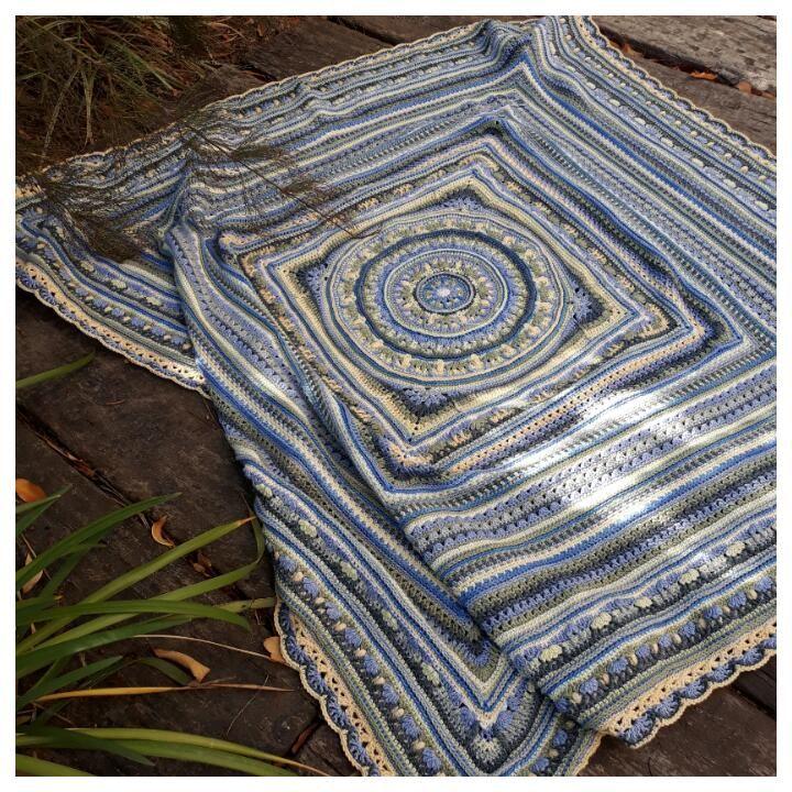 Atlanticus Blanket CAL 2017 - Free Crochet Patterns and Cals by designer Vanessa Smith using nurturing fibres yarn