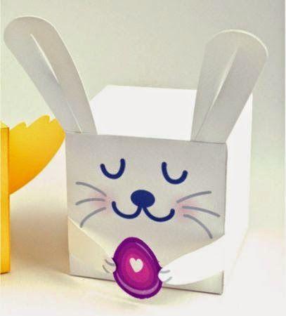 membuat sendiri kotak lucu berbentuk kelinci, kerajinan gunting-tempel untuk anak SD