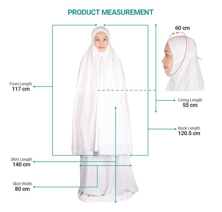 Siti Khadijah Telekung Melati Klasik