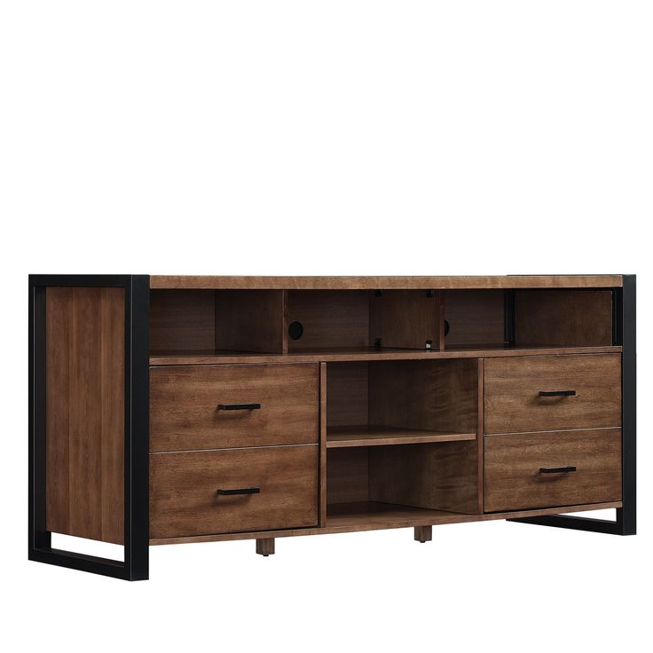 Bell'O TV Stand for TVs up to 70 Inches, Old World Birch