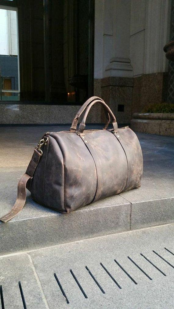 Seabury Duffle handmade leather bag large by LUSCIOUSLEATHERNYC